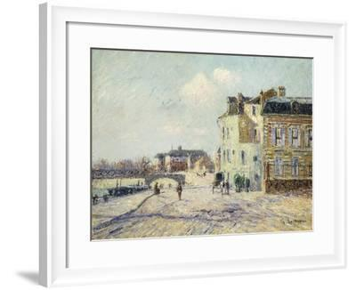 Le Quai De L'Oise a Pointoise, 1908-Gustave Loiseau-Framed Giclee Print