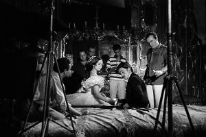 Le realisateur Luchino Visconti with Claudia Cardinale and Alain Delon