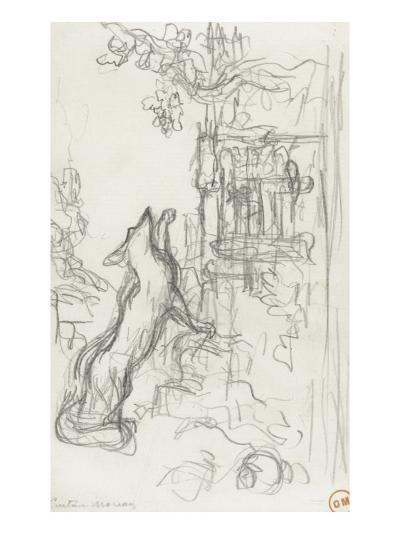 Le renard et les raisins-Gustave Moreau-Giclee Print