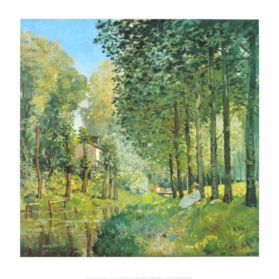 Le Repos au Bord du Ruisseau , 1872-Alfred Sisley-Art Print