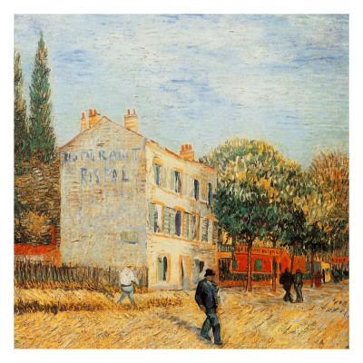 Van Gogh Bag Van Gogh Tote Van Gogh Art Das Restaurant Rispal in Asni\u00e9res Post Impressionist Art Tote Bag Vincent van Gogh