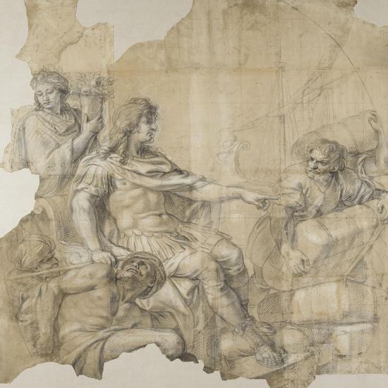 Le Rétablissement de la navigation-Charles Le Brun-Giclee Print