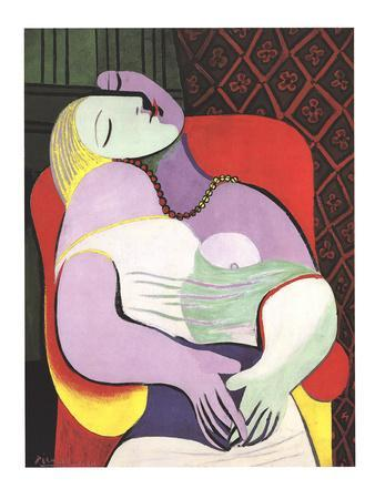 Le Reve (Marie Therese)-Pablo Picasso-Lithograph