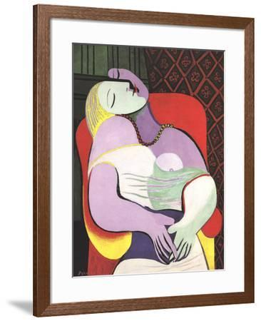 Le Reve (Marie Therese)-Pablo Picasso-Framed Lithograph