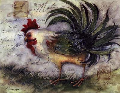 Le Rooster IV-Susan Winget-Art Print