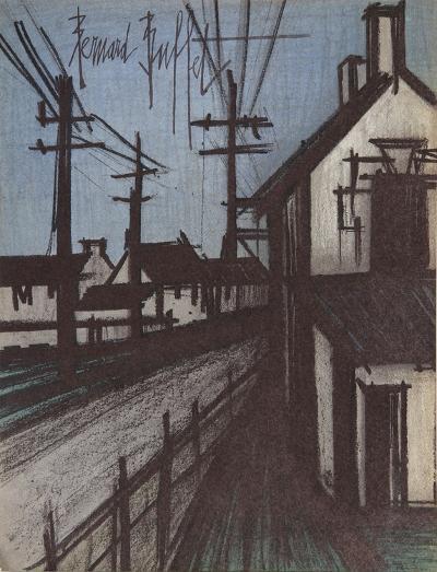 Le Route sur Village-Bernard Buffet-Collectable Print