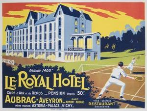 Le Royal Hotel French Advertising Poster