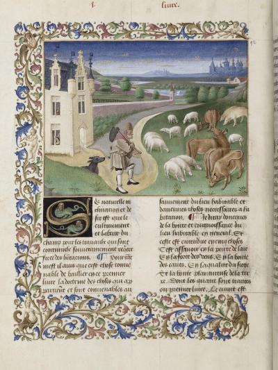 """Le Rustican ou """"Livre des proffitz champestres et ruraulx"""" par Pietro de Crescenzi-du Boccace de Genève Maître-Giclee Print"""