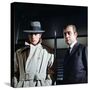 Le Samourai by Jean-Pierre Melville with Alain Delon and Francois Perier, 1967 (photo)