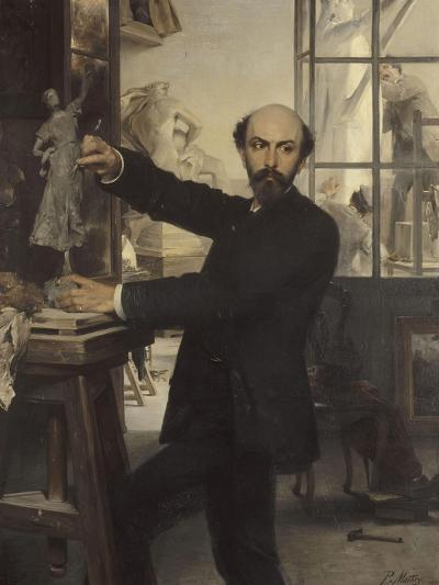 Le Sculpteur René de Saint Marceaux-Paul Mathey-Giclee Print