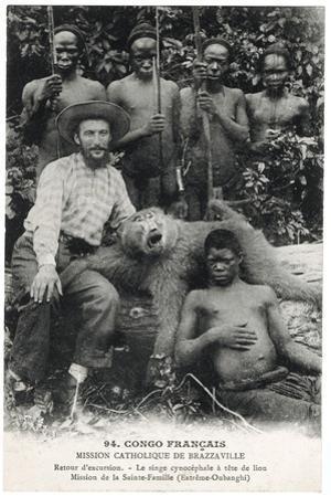 Le Singe Cynocéphale À Tête de Lion, c.1910