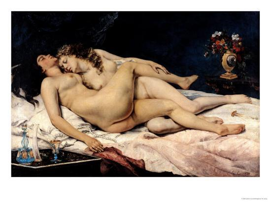 Le Sommeil, 1866-Gustave Courbet-Giclee Print