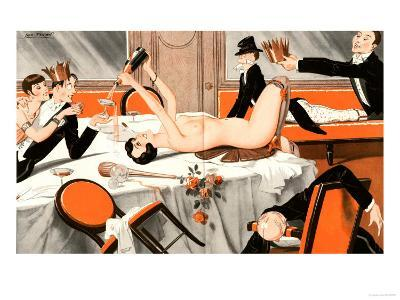 Le Sourire, Erotica Drunks Orgies Champagne Party Magazine, France, 1920--Giclee Print