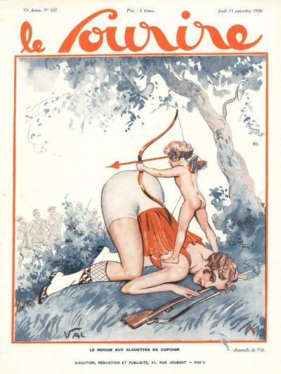 Le Sourire, Erotica Love Cupids Cherubs Magazine, France, 1930--Giclee Print