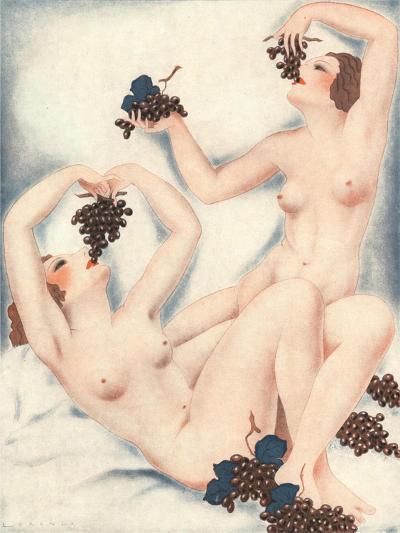 Le Sourire, Erotica Wine Grapes Sex Magazine, France, 1930--Giclee Print