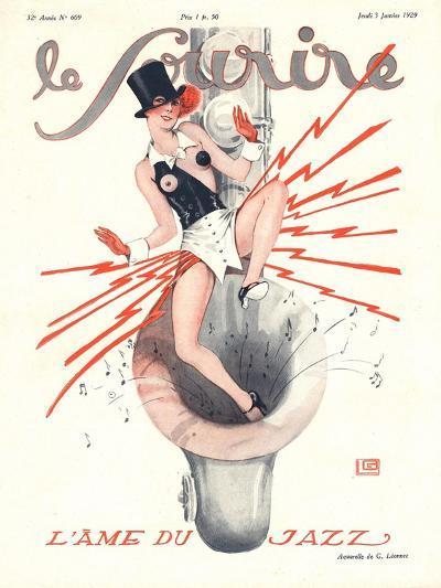 Le Sourire, Glamour Music Saxophones Erotica Magazine, France, 1920--Giclee Print