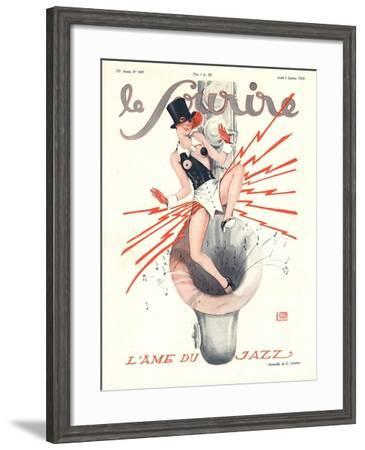 Le Sourire, Glamour Music Saxophones Erotica Magazine, France, 1920--Framed Giclee Print