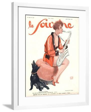 Le Sourire, Glamour Saxophones, France, 1929--Framed Giclee Print