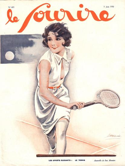 Le Sourire, Tennis Womens Magazine, France, 1930--Giclee Print
