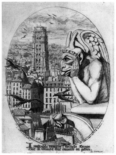 Le Stryge, C1841-1868-Charles Meryon-Giclee Print