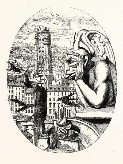Le Stryge, the Grotesque at the Paris Notre Dame Cathedral, France--Giclee Print