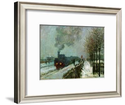 Le train dans la neige-Train in the snow,1875 Canvas,59 x 78 cm.-Claude Monet-Framed Giclee Print