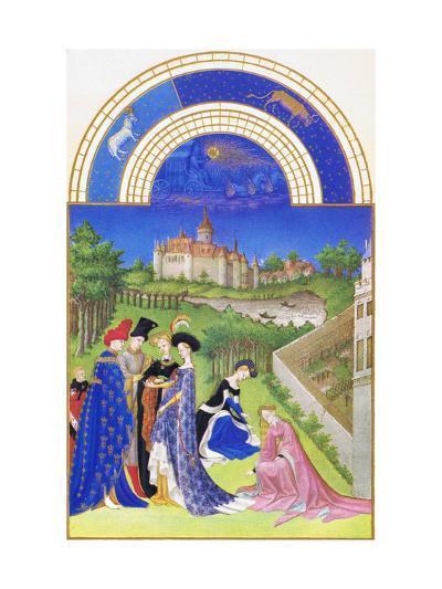 Le Tres Riches Heures Du Duc De Berry - April-Paul Herman & Jean Limbourg-Art Print