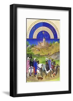 Le Tres Riches Heures Du Duc De Berry - August-Paul Herman & Jean Limbourg-Framed Art Print