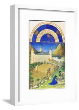 Le Tres Riches Heures Du Duc De Berry - July-Paul Herman & Jean Limbourg-Framed Art Print