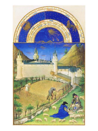 Le Tres Riches Heures Du Duc De Berry - July-Paul Herman & Jean Limbourg-Art Print
