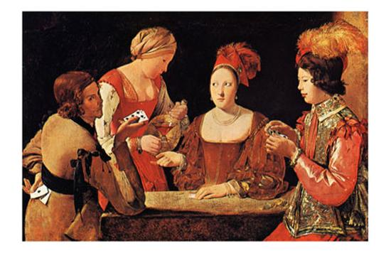 Le Tricheur a l'As de Tre`fle-Georges de La Tour-Art Print