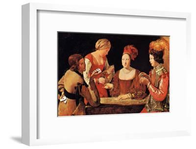 Le Tricheur a l'As de Tre`fle-Georges de La Tour-Framed Art Print