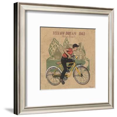 Le Velo Jaune-Philippe David-Framed Art Print