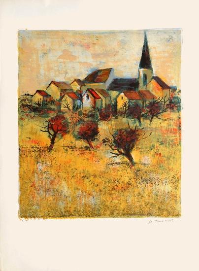 Le village II-Michel Jouenne-Collectable Print