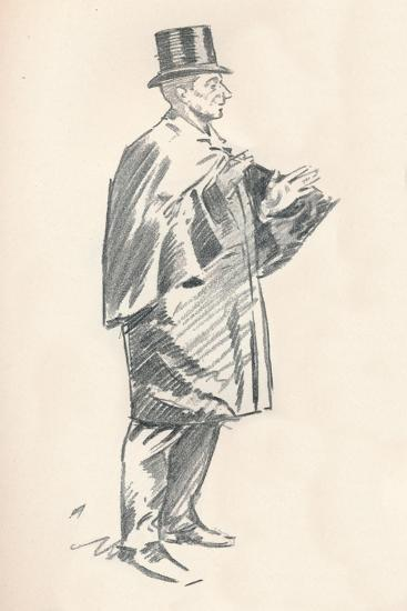 Lead Pencil Sketch by Phil May, C19th Century (1903-1904)-Philip William May-Giclee Print
