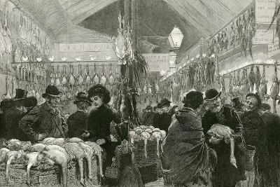 Leadenhall Market at Christmas Time-English School-Giclee Print