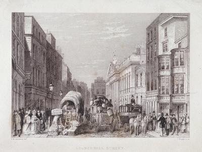 Leadenhall Street, London, C1837-J Hopkins-Giclee Print