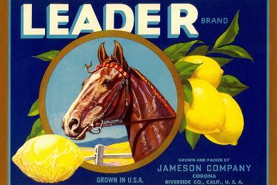 Leader Lemon Label--Art Print