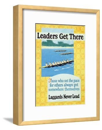 Leaders Get There, Rowing Poster