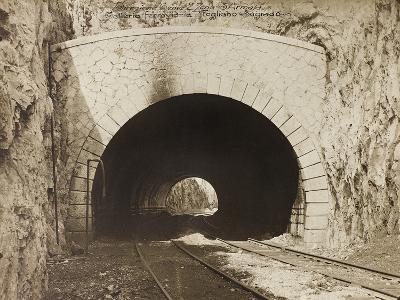 Leadership Corps of Engineers 2nd Area 3rd Army, Railway Tunnel Is in the Fogliano - Sagrado--Photographic Print