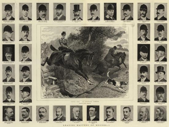 Leading Masters of Hounds, I-John Charlton-Giclee Print