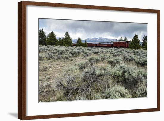 Leadville Colorado and Southern Railroad Train-Keith Ladzinski-Framed Photographic Print