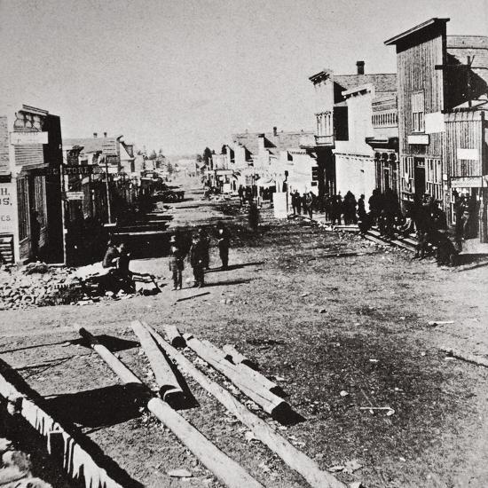 Leadville, Colorado, USA, 1870s-Unknown-Photographic Print