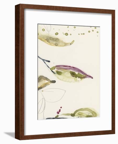 Leaf Branch Triptych III-Jennifer Goldberger-Framed Art Print