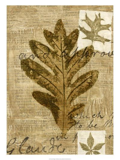 Leaf Collage I-Kate Archie-Art Print