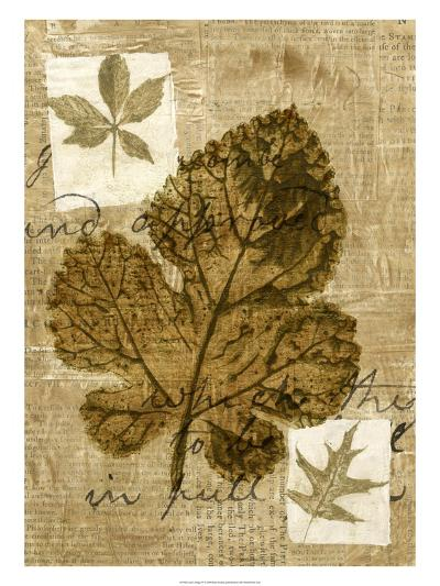 Leaf Collage IV-Kate Archie-Art Print