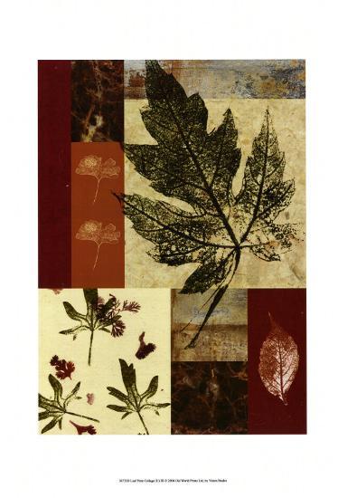 Leaf Print Collage III--Art Print