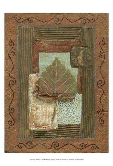 Leaf Quartet III-Wendy Russell-Art Print