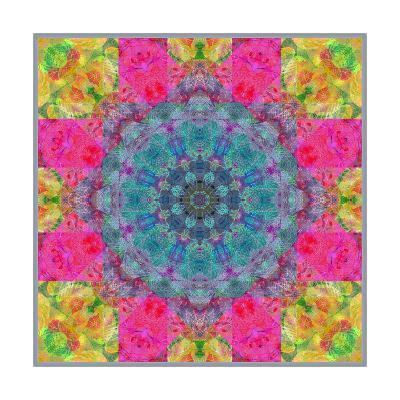 Leafes and Blossom Mandala-Alaya Gadeh-Art Print