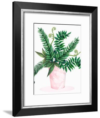 Leafy Fern Green 2-Victoria Nelson-Framed Art Print
